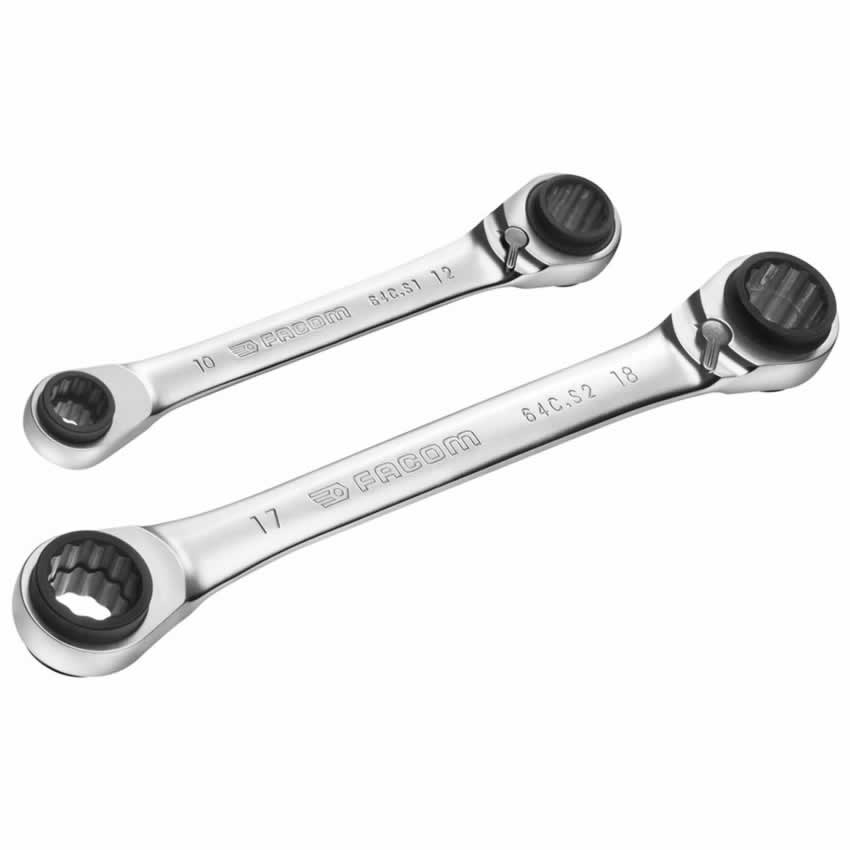 Facom 64 Metric Straight Ratchet Ring Spanner Wrench 8X9mm Other Vehicle Hand Tools
